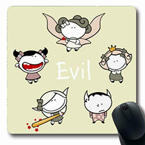 NOWCustom Oblong Mousepads Halloween Funny Kids 83 Evil Creatures Raster Holidays Baby Mischief Oblong Shape 7.9 x 9.5 Inches Non-Slip Rubber Mousepad Gaming Mouse Pad]()