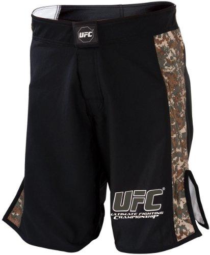 "UFC Digital Camo Fight Shorts-Black/Army Green - 38"""