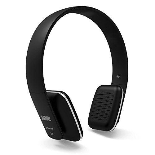 august ep636 bluetooth wireless stereo nfc headphones with microphone best speakers. Black Bedroom Furniture Sets. Home Design Ideas