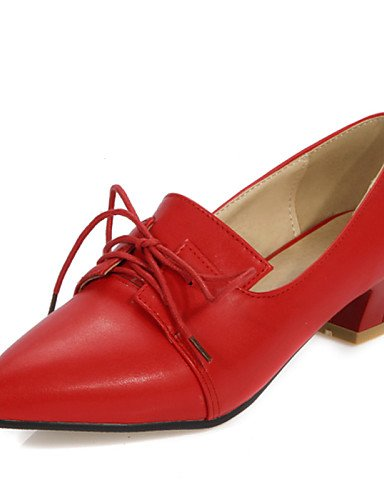 Plata 5 eu36 Casual de Puntiagudos Tacones black us5 cn35 uk3 Oxfords black Zapatos 5 Negro 5 us5 Tacones Tacón ZQ mujer 8 cn42 Trabajo eu36 Semicuero u 5 uk7 10 Rojo y eu41 Gris Oficina us9 Bajo hug red 5 BOTxFqfw