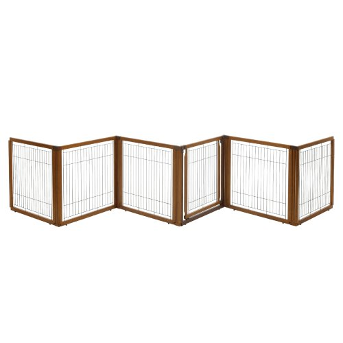 Richell 3-in-1 Convertible Elite Pet Gate, 6-Panel - Richell Gates