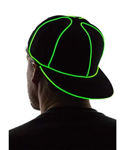 (Neon Nightlife Light Up Snapback Hat,)