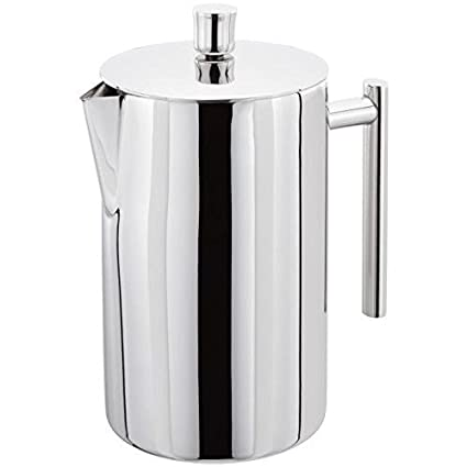 section spéciale mode designer 60% pas cher Stellar 12 Cup Double Walled Cafetiere, 1.4 L, Stainless Steel, Silver