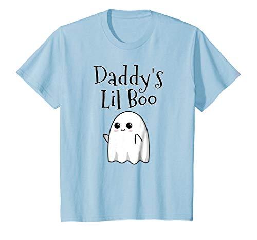 Kids Cute Halloween Ghost Costume Idea Shirt - Daddy's Lil Boo