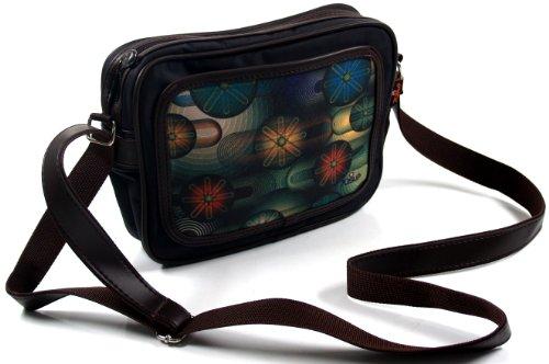 Guru-Shop Kleine Retro Schultertasche Fototasche, Herren/Damen, Mehrfarbig, Synthetisch, Size:One Size, 20x23x6 cm, Tragetasche, Umgängetasche