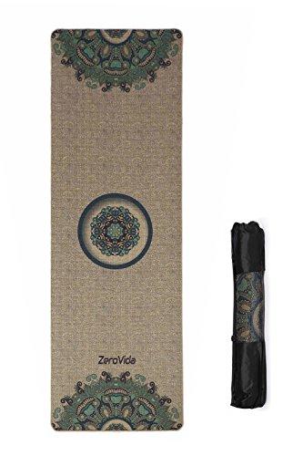 Type Scarce (ZEROVIDA Linen Yoga Mat 5mm Non Slip Extra Thick Eco-friendly Exercise Mat Hot Yoga,Meditation Blanket Madala Luxury Yoga Mat Yoga Bag)