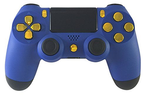 GM Master Mod Blue & Gold PS4 Modded Controller Mod Custom Rapid Fire, Drop Shot, Quickscope COD Black Ops 3, Infinite Warfare, MW Remastered, Battlefield 1, Destiny