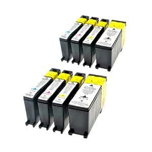 Logic-Seek - Cartuchos de tinta para Lexmark 100XL, color (03) - 8er Set
