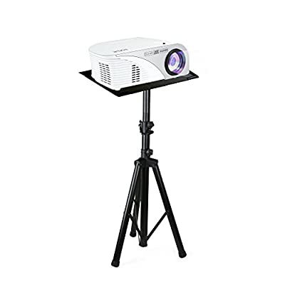 "Pyle Pro DJ Laptop Stand, Projector Stand, Adjustable Laptop Stand, Laptop Stand, Multifunction Stand, Adjustable Tripod Laptop Projector Stand, 30"" to 55"", Good For Stage or Studio (PLPTS7)"