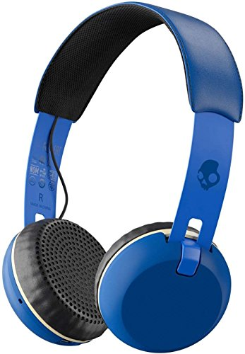 Skullcandy Grind Bluetooth Wireless On-Ear Headphones with Built-In Mic and Remote, Ill Famed Royal Blue