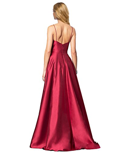 A V Formal Ball Lily 2018 Wedding Prom Spaghetti Long Womens Neck Evening GD48 Gowns line Party Dresses Green Strap gIFZIv7q