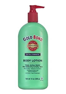 Gold Bond Medicated Extra Strength Body Lotion, 14-Ounce Bottles (Pack of 3)