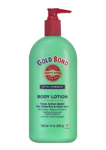 (Gold Bond Medicated Extra Strength Body Lotion, 14-Ounce Bottles (Pack of 3))