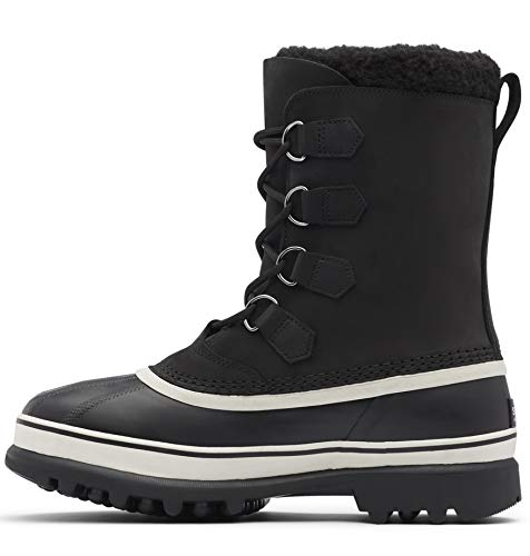Sorel - Men's Caribou Waterproof Boot for Winter, Black/Dark Stone, 10.5 M US