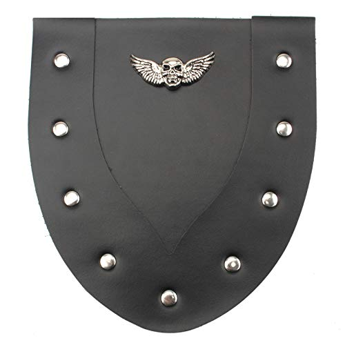 Skull PU Leather Motorcycle Front Fender Mud Flap Mudguard Cover For Sportster XL883 XL1200 Softail Dyna