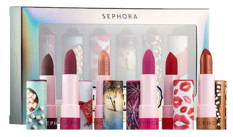 SEPHORA COLLECTION Midnight Kisses Storybook SET #LIPSTORIES Set: 12 Celebrate, 33 Wanderlust, 22 A Little Magic , 2 Landing in Shanghai and 51 Festival Lights