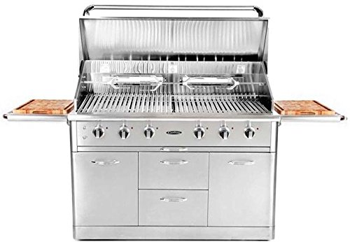 NUMBERNINE,Propane Gas Grill Smoker 6 Burner Bbq Outdoor Cooking Infrared Stainless Steel,bbq smoker
