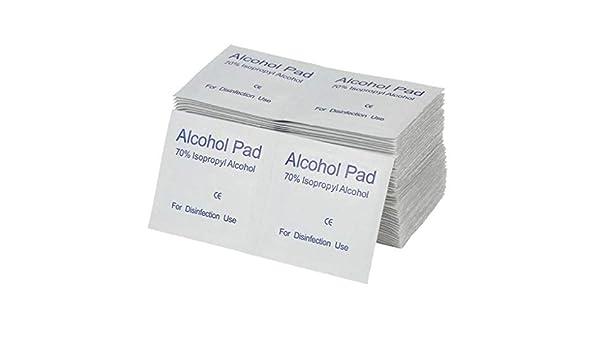 Bomcomi Los hisopos con Alcohol portátiles Pads toallitas antisépticas de Limpieza Limpiador de esterilización de Primeros Auxilios Inicio Maquillaje 100pcs ...