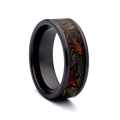 black camo wedding rings by 1 camo camo promise rings black ceramic amazoncom - Ceramic Wedding Rings