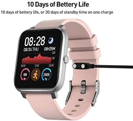 """Smart Watch, 1.4"""" Touch Screen Smartwatch,Fitness Tracker with Heart Rate Monitor, Sleep Monitor, Bluetooth Camera Music Control Smart Watch for Men Women 7"""