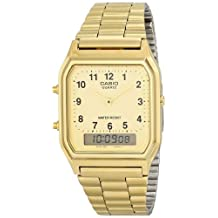 Casio Men's AQ-230GA-9D Gold Analog & Digital with Index Watch