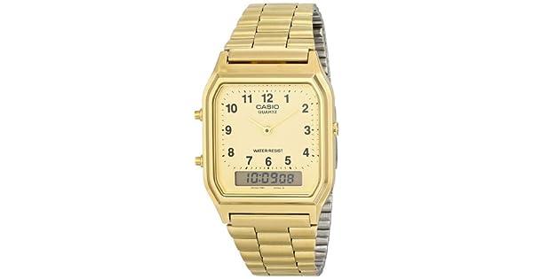86818ce5131 Relógio Feminino Anadigi Casio Vintage AQ-230GA-9BMQ - Dourado   Amazon.com.br  Amazon Moda
