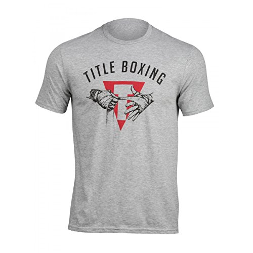 Title Boxing Wrapped Hands Tee, Light Grey, X-Large