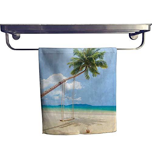 HoBeauty home Absorbent Towel,Photo of a Tropical Island