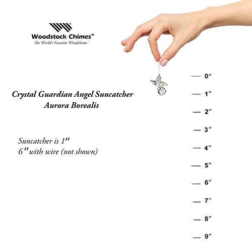 Woodstock Chimes Crystal Guardian Angel Suncatcher, Aurora Borealis (April)