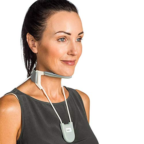 BACK Neck Brace, a revolutionary cervical collar that provides support while being breathable, cool and lightweight. Neck Pain Relief - (Silver Small)