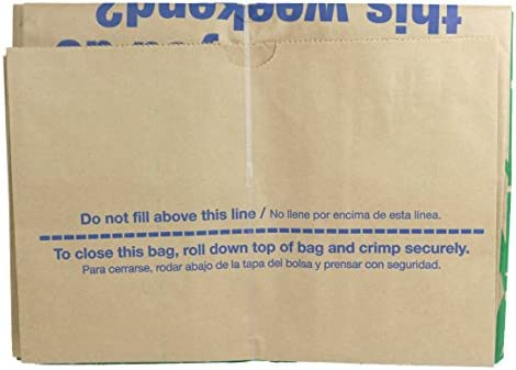 Lowe's 30 Gallon Heavy Duty Brown Paper Lawn and Refuse Bags for Home and Garden (5 Count)