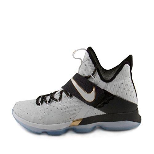 Nike Mens Lebron 14 Xiv Bhm Nero Storia Mese 2017 Scarpe Da Basket 860634-100 Bianco / Oro-nero