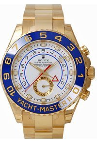 Men's 18K Gold Rolex Yachtmaster II (Large Image)