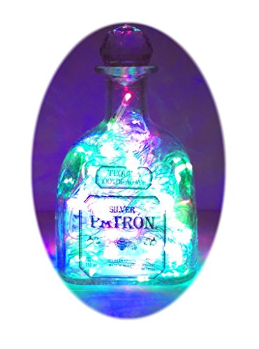 The-Bottle-Upcycler-Upcycled-Patron-Tequila-Mood-Therapy-Liquor-Bottle-Light-with-Multi-color-Leds-Topped-with-an-Asfour-30-Leaded-Clear-Crystal-Prism-Ball