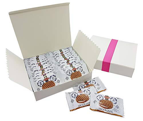 Daelmans Caramel Stroopwafels Mini Single Pack 24-Piece Gift Set Valentine's Day, Mother's Day, Easter, Birthdays