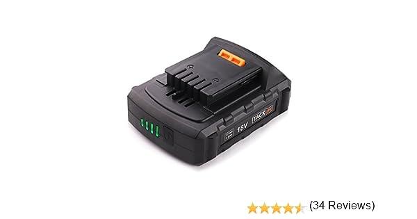 Bater/ía TACKLIFE 18V PPK02B LED 2.0ah Bater/ía para Taladro Strpowor Bater/ía de iones de litio LED Pantalla de voltaje