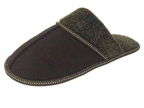 Fleece Mens UK Brown and Microsuede Cuff 10 9 Mule Slippers Coolers Lining 1H6xARwqA7