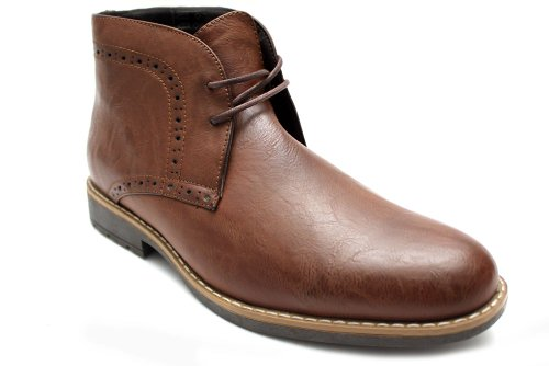 M0655Db - Chaussures montantes à lacets - style chukka - homme - marron