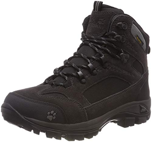 Jack Wolfskin All Terrain 8 Texapore Mid W, Zapatos de High Rise Senderismo para Mujer Gris (Shadow Black 6101)