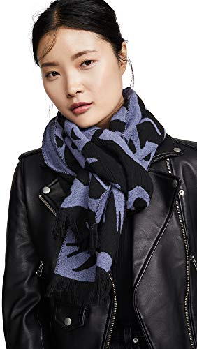 (McQ - Alexander McQueen Women's Cut Up Swallow Scarf, Lilac/Black, One Size )