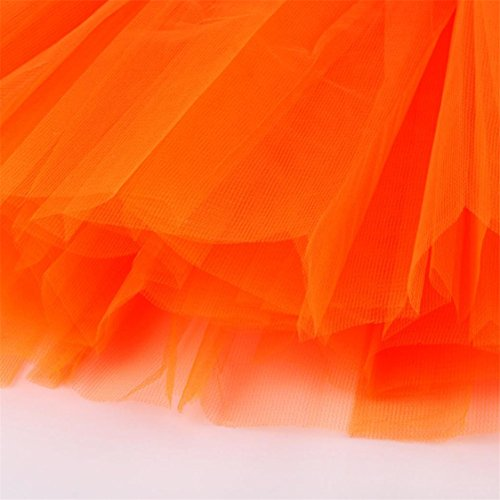 Hot Tutu Womens Half Pleated Gauze Adult Dancing TIFENNY Solid Dress Sale mesh Waist Skirt High Mesh Orange Or5OTqw
