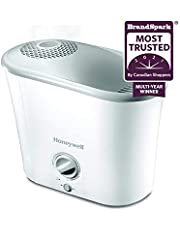 Honeywell HWM340WC Top-Fill Warm Mist Humidifier, White, with Variable Output Control, Auto Shut-off, Ultra Quiet Operation, Warm Visible Mist