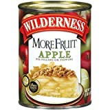 Wilderness More Fruit Apple Pie Filling And Topping 21 OZ (Pack of 24)