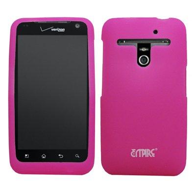 EMPIRE Hot Pink Rosa Silicone Skin Case Étui Coque Cover Couverture + Mirror Films de protection d'écran + Voiture Chargeur (CLA) for Verizon LG Revolution VS910