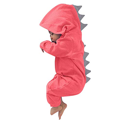 Keliay Infant Toddler Baby Girls Boys Dinosaur Hoodie Romper Zip Clothes Jumpsuit]()
