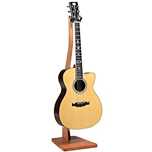 So There Wooden Guitar Stand - Handcrafted Solid African Okoume Wood Floor Stands Best for Acoustic, Electric and Classical Guitars, Made in USA from So There