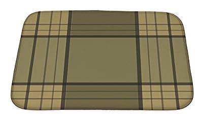 Gear New Retro Textile Tartan Checkered Plaid Pattern Ba Bath Rug Mat No Slip Microfiber Memory Foam