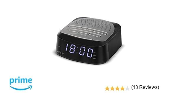 Sunstech FRD40BT - Radio Despertador con 50 presintonías (Bluetooth V 4.0, Alarma Dual, función Sleep, USB y conexión Auriculares), Color Titanio: ...