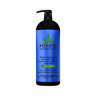 Hempz Triple Moisture Moisture-Rich Daily Herbal Whipped Creme Conditioner and Hair Mask