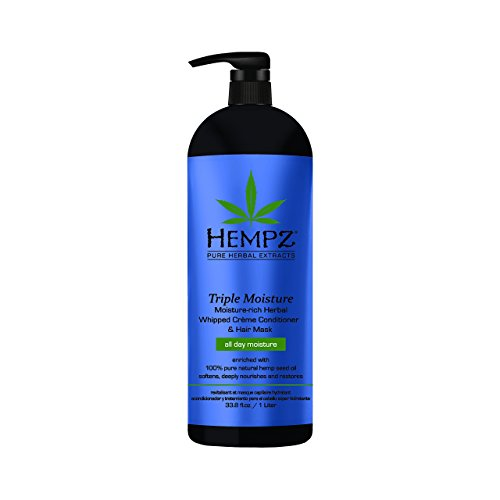 Hempz Triple Moisture-Rich Daily Herbal Whipped Creme Conditioner and Hair Mask, Enchanted Grapefruit, 33.8 Fl. ()